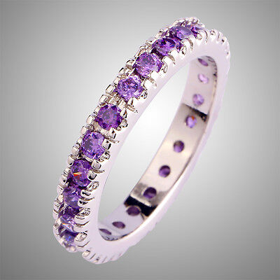 Popular Lover Round Cut Amethyst Gems Silver Rings Size 6 7 8 9 10 11 12 13 Gift](Purple Ring Pop)