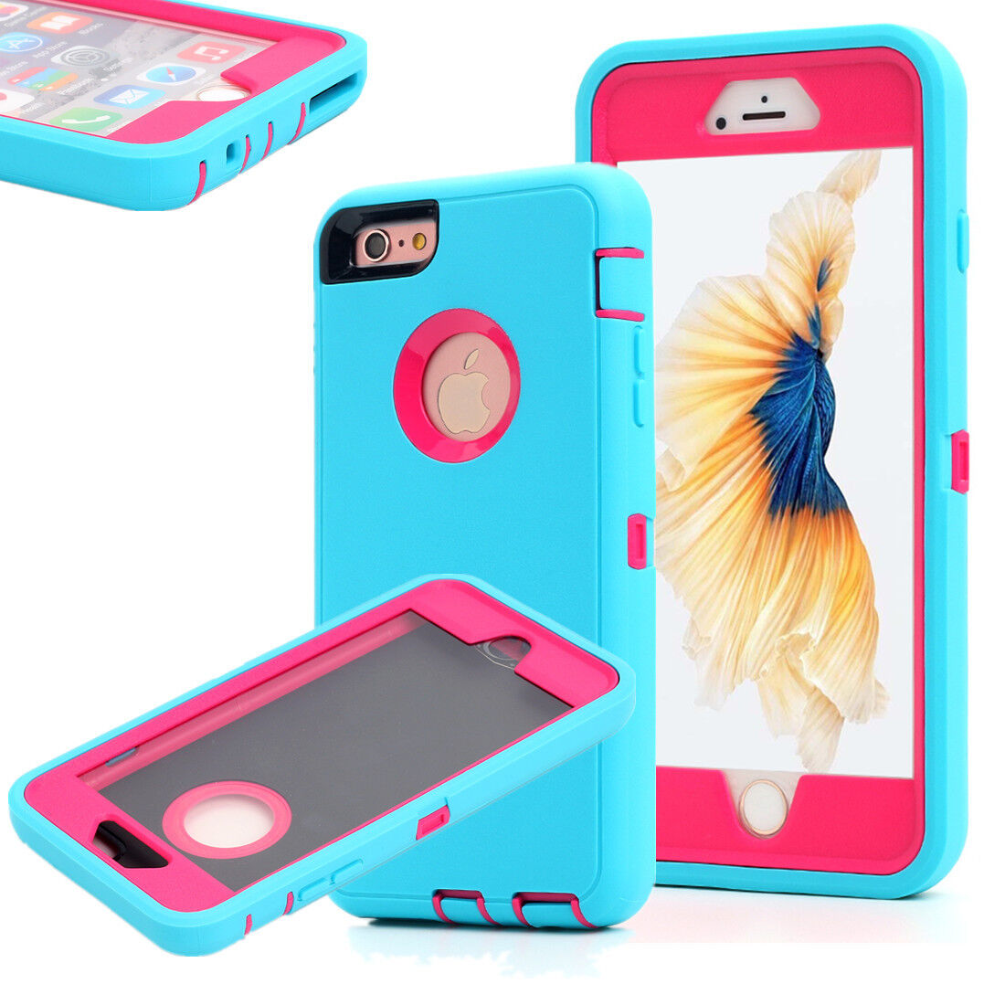 Protective Hybrid Shockproof Hard Armor Case Cover Fr Apple iPhone 6 6S 7 8 Plus