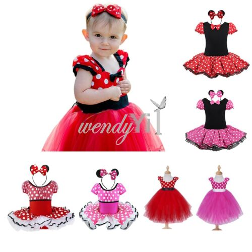 toddler girl baby minnie mouse wedding cosplay costume