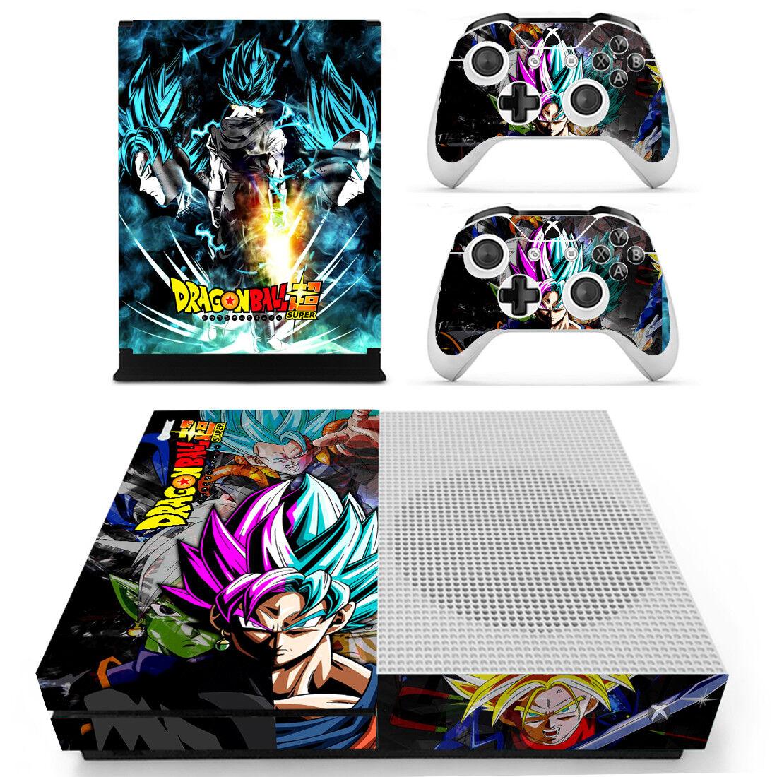 Xbox One S Slim Dragon Ball Z DBZ Goku Saiyan Vinyl Skin Dec