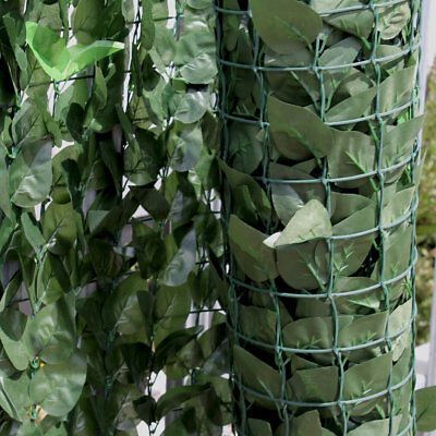 X 2 Artificial Hedge Ivy Garden Fence Green Wall Balcony Privacy Screen 1.5 x 3m