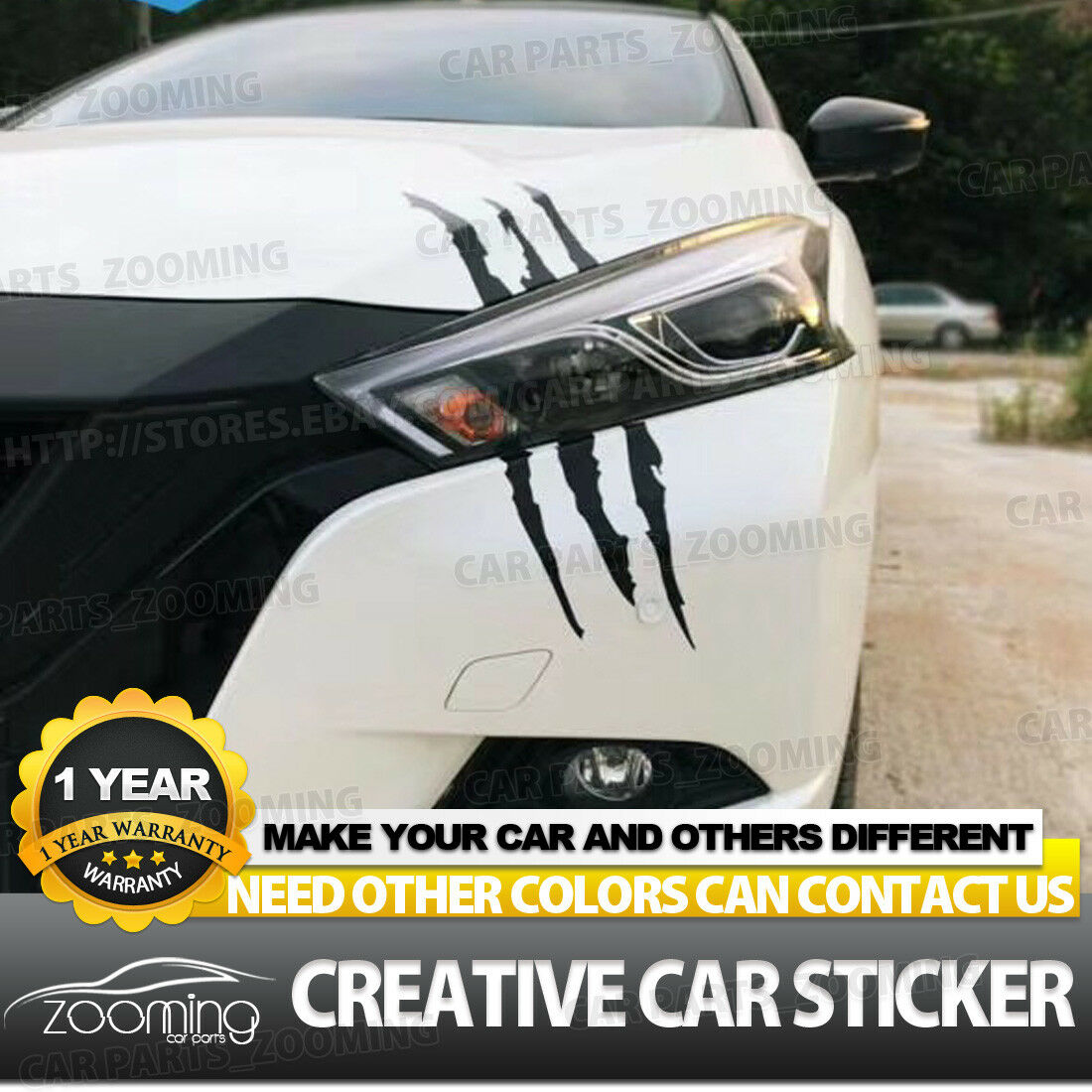 Creative 3d claw marks car bumper stickers vinyl decal sticker scratch cover