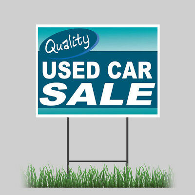 12x18 Used Car Sale Yard Sign Retail Auto Dealer Business Store Outdoor Sign