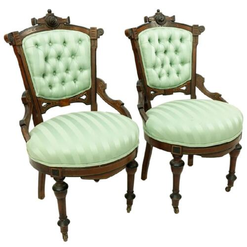 Chairs, Victorian East Lake Side, Classy Pair,19th Century ( 1800s )!!!