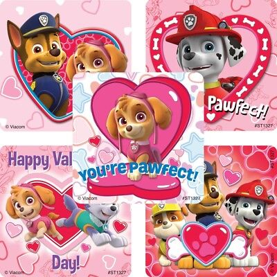 Valentines Party Favors (25 Paw Patrol Stickers Party Favors Teacher Supply Valentine's Day Skye)