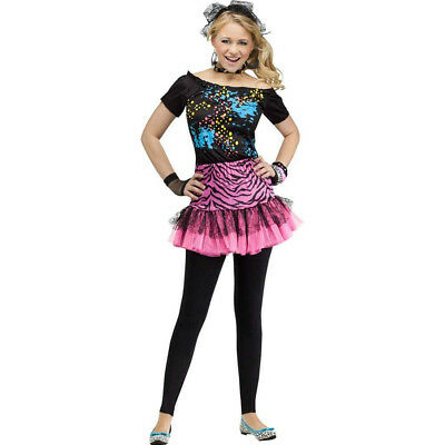 80S Pop Party Rocker Chick Girls Teen Halloween Costume