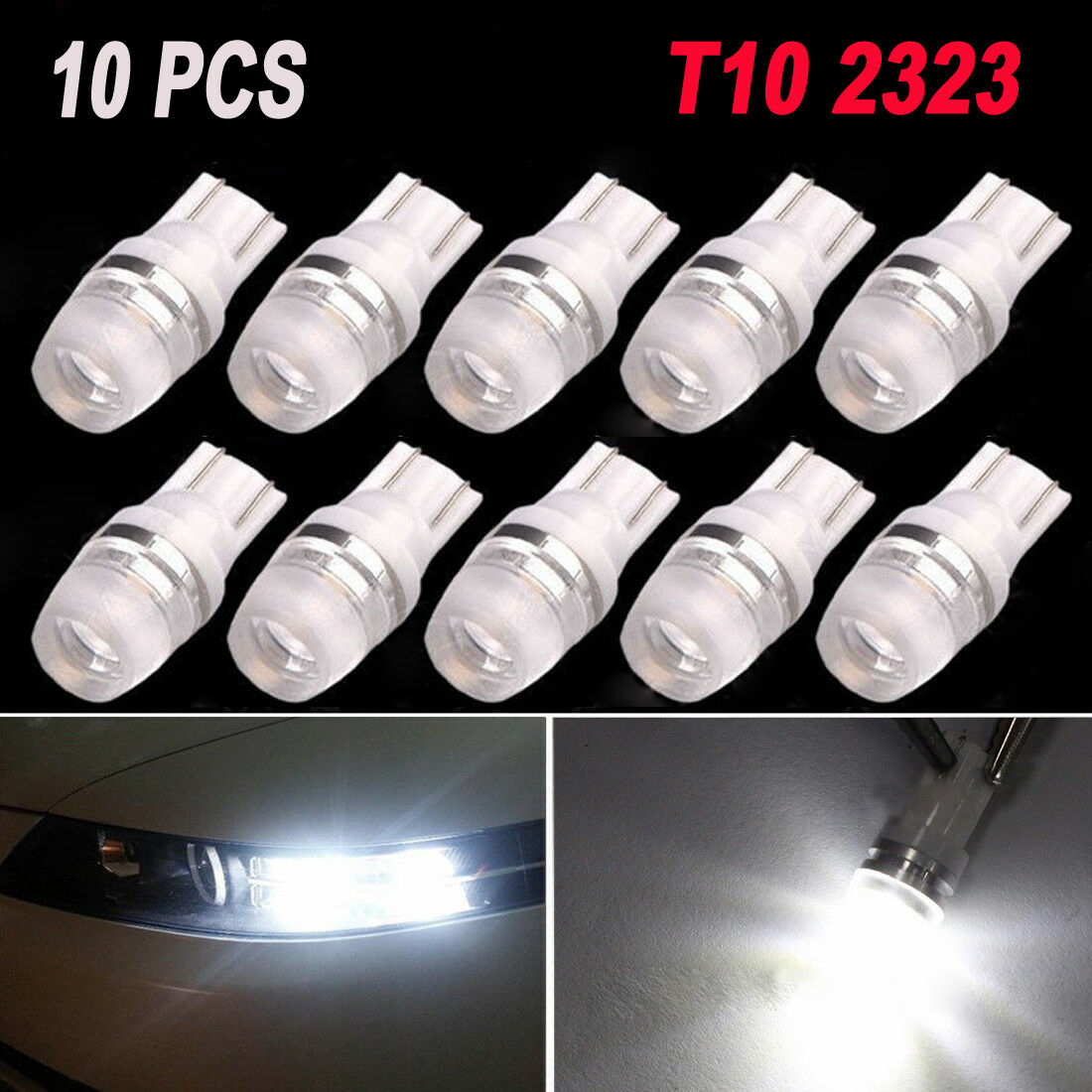 10*Super White High Power T10 Wedge SAMSUNG LED Light Bulbs W5W 192 168 194 12V