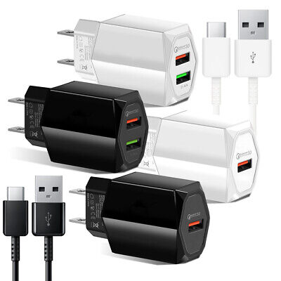 Samsung Galaxy Note8 9 S8 S9 S10+ Fast Quick Wall Charger Adapter +Type-C Cable