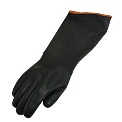 Chemical Resistance Industry Elbow Long Rubber Gloves 18 Length Ed