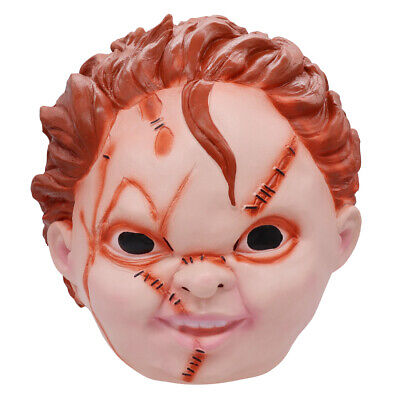 Halloween Mask scary Child's Play Chucky Latex Mask Horror Doll Costume Cosplay - Horror Halloween Dress Up Games
