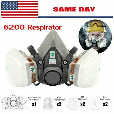 6200 Half Face Painting Spraying Respirator Gas Mask 7 In 1 Suit Safety Work