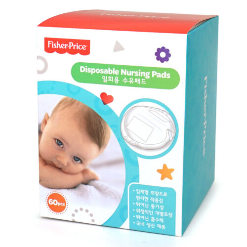 Fisher Price Disposable Nursing Pads 60pcs Leak proof Maternity Breast Bra FP064
