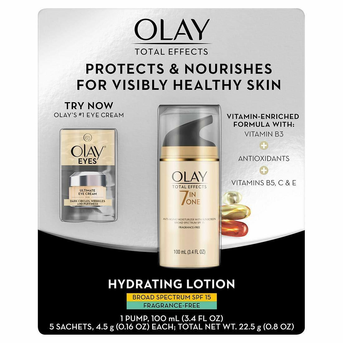 Olay Total Effects SPF 15 Fragrance-Free Face Moisturizer,