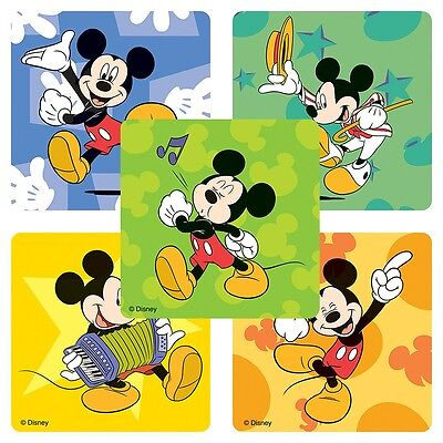 20 Mickey Mouse Music STICKERS Party Favors Teacher Supplies Treat Bags Birthday - Mickey Treat Bags