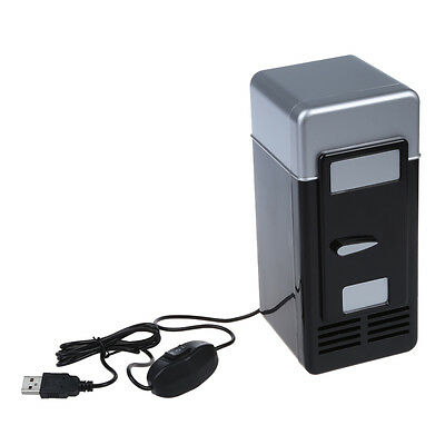 PC USB Mini Refrigerator Fridge Beverage Drink Can Cooler Warmer R8W3
