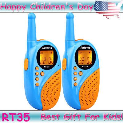 2×Blue Retevis RT35 Kids 22CH Walkie Talkies Child FRS 2way Radio Best Gift