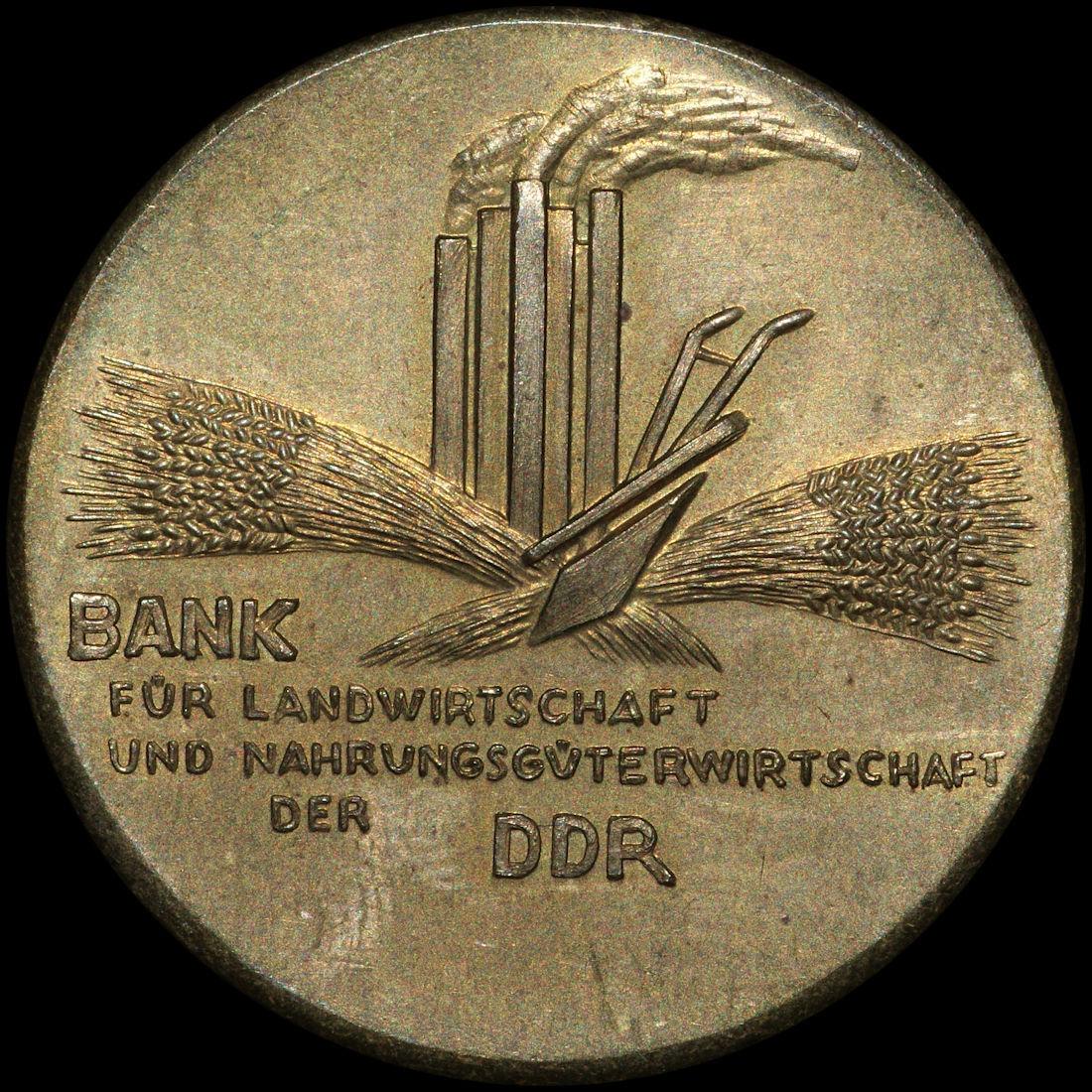 BANKWESEN: BANK FÜR LANDWIRTSCHAFT UND NAHRUNGSGÜTERWIRTSCHAFT DER DDR.