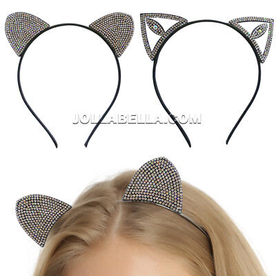 Kitty Cat Ears Headband Hair Accessory Costume Halloween Sexy Cute Cosplay Black