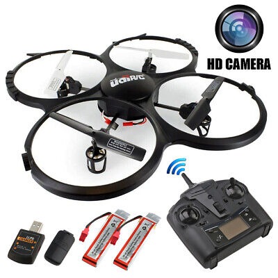 720P Camera Drone 2.4GHz 4CH 6 Axis Radio/Remote RC Control Quadcopter DE