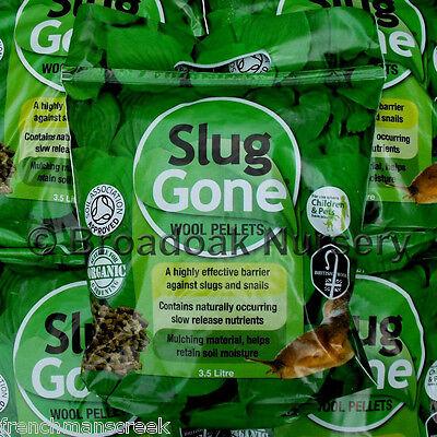 SLUG GONE Wool Pellets ORGANIC SLUG REPELLENT / SLUG CONTROL Various Pack Sizes