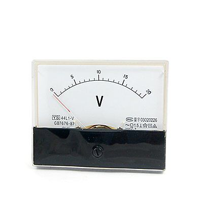 1ac 20v Analog Panel Volt Voltage Meter Voltmeter Gauge 44l1 Ac 0-20v