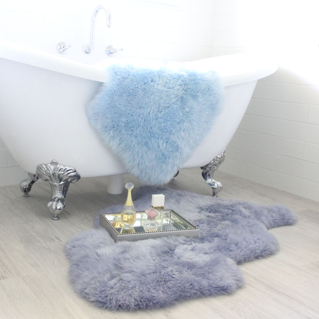 Australian Merino Lavender Sheepskin Hide Throw Rug