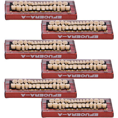 168pcs 6set Dental Denture Acrylic Resin Full Set Teeth Upper Lower Shade 23 A2