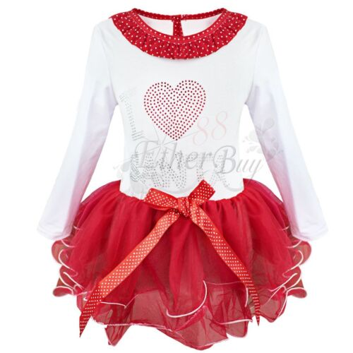 Kids christmas i love santa tutu dress holiday outfit baby clothing