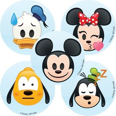 Mickey Emoji (20 Mickey Mouse Emoji STICKERS Party Favors Supplies Teacher Treat Bags Birthday)