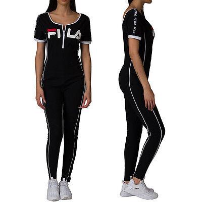 High Neck Unitard (NEW Fila High Neck Unitard Legging Jumpsuit With Front Zip LW171XS9 GINA)