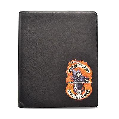 Sons Of Anarchy Soa Black Faux Leather Ipad  2 3 4 Folio Case Stand Cover