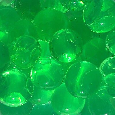 RIESEN AQUALINOS ca 4-7cm, 50g für 3 l Aquaperlen, Gelkugeln, Dekogel GRÜN -50