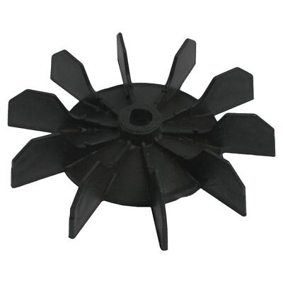 Inner Bore 10 Impeller Air Compressor Motor Fan Blade Black V8q5