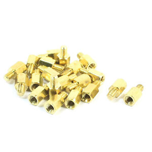 20 Pcs PC PCB Motherboard BraBT Standoff Hexagonal Spacer M3 6+4mm S9
