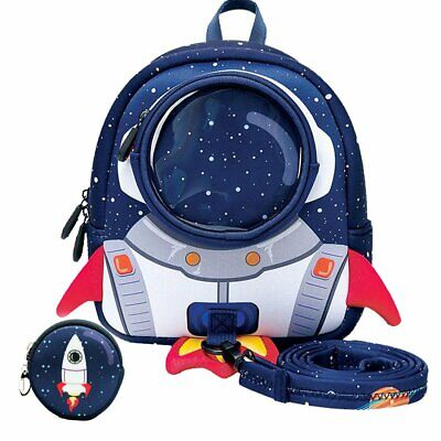 Bags For Kids (Rocket Toddler Backpack with Harness Leash Snack Nursery Bags for Kids Baby Boy)