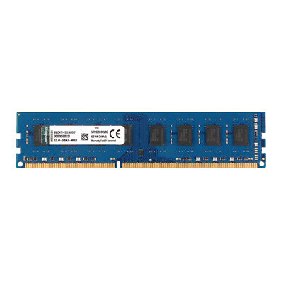 Kingston 8GB PC RAM DIMM PC3-10600U DDR3 1333MHz 240pin Desktop Memory CL9 @2H