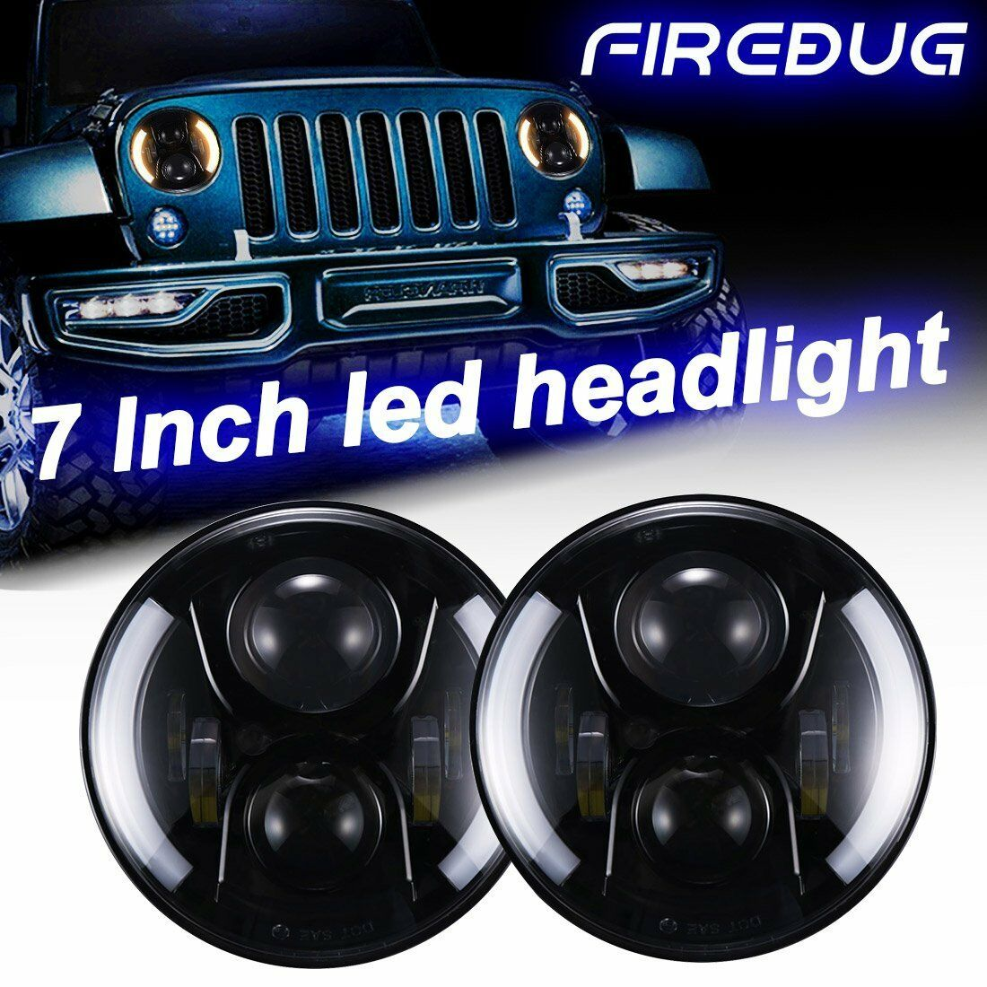 Firebug Jeep Wrangler Halo Headlights Jeep Headlights