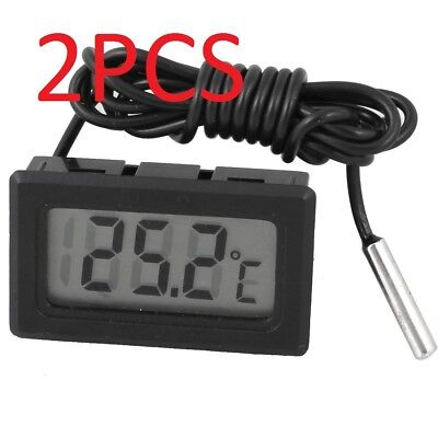 2PCS Electronic Mini Digital LCD Temperature Meter Thermometer Tester Clock