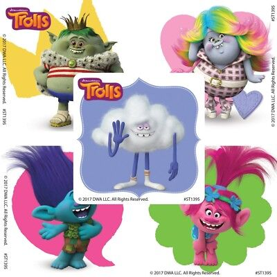 20 Trolls Friends STICKERS Party Favors Supplies Birthday Loot Treat Bags