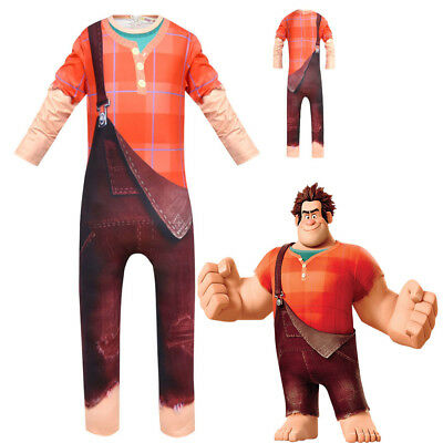 Wreck It Ralph Halloween (Kids Wreck-It Ralph 2 Cosplay Costume Party Halloween Christmas Costume)