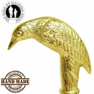 Vintage Solid Brass polish Head Cane Handle for Walking Stick handmade design