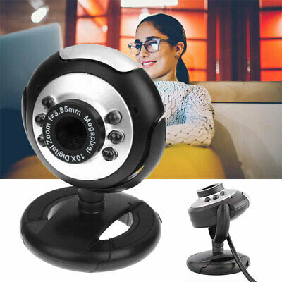 Brandneue 6 LED USB 2.0 Webcam Kamera XP, VISTA, WINDOWS 7 10 Skype,YAHOO, MIC
