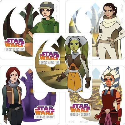 Star Wars Stickers x 5 - Forces of Destiny - Birthday Party Favours Loot Ideas - Star Wars Birthday Ideas