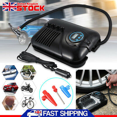 12V 250PSI DIGITAL AIR COMPRESSOR PUMP VAN CAR TYRE FOOTBALL INFLATOR PORTABLE