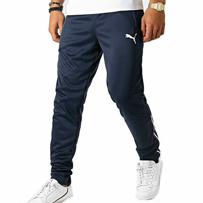 Puma Dry Cell Tracksuit Bottoms Slim Fit Pant Mens Colour: Navy-White
