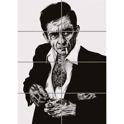 - Johnny Cash Unique Tattoo Icon Wall Art Multi Panel Poster Print 33X47 Inches