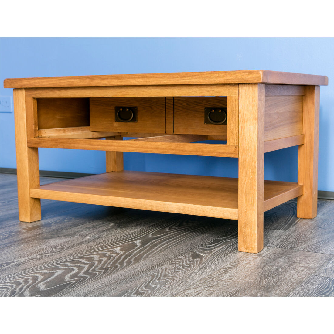 Surrey Oak Coffee Table Solid Wood Lounge Table Coffee Table Drawer New