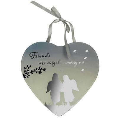 Freunde Spiegel Schild Reflektionen Loveheart Plakette Geschenk