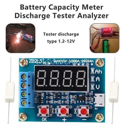 Battery Capacity Meter Discharge Tester 18650 Li-ion Lithium Lead-acid 1.5-12v