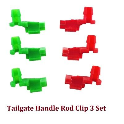 Tailgate Handle Rod Clip Pair Fits for Chevy Silverado GMC LH RH 88981030 3 Sets